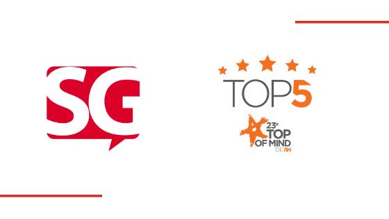 SG Aprendizagem Corporativa recebe indicação ao Prêmio Top of Mind de RH 2020